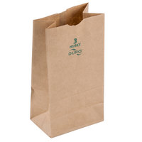 Duro Husky Heavy-Duty 3 lb. Brown Paper Bag - 500 / Bundle