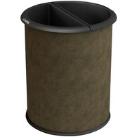 Commercial Zone 780947 Precision 3.2 Gallon Brown Vinyl InnRoom Recycler Trash Receptacle with Black Liners