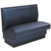 American Tables & Seating AS-36VN-D Single Deuce V Shape Back Booth - 36 inch High