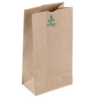 Duro Husky Heavy-Duty 6 lb. Brown Paper Bag - 500/Bundle
