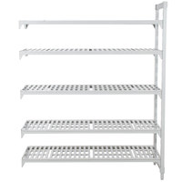 Cambro Camshelving Premium CPA182484V5PKG480 Vented Add On Unit 18 inch x 24 inch x 84 inch - 5 Shelf
