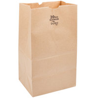 Duro Bulwark Extra Heavy-Duty 20 lb. Shorty Brown Paper Bag - 500 / Bundle