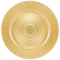 The Jay Companies 13 inch Round Gold Genesis Glass Charger Plate