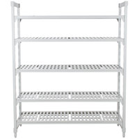 Cambro Camshelving Premium CPU216084V5PKG480 Shelving Unit with 5 Vented Shelves 21 inch x 60 inch x 84 inch