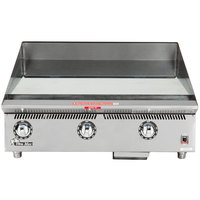 Star 836TSCHSA Ultra Max 36 inch Countertop Gas Griddle with Snap Action Thermostatic Controls and Chrome Plate - 120,000 BTU