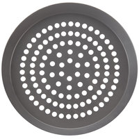 American Metalcraft CAR8HCSP 7 3/4 inch SuperPerforated CAR Pizza Pan - Hard Coat Anodized Aluminum