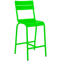 BFM Seating MS802BLM Beachcomber Lime Aluminum Outdoor / Indoor Bar Height Chair