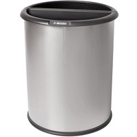 Commercial Zone 781029 Precision 3.2 Gallon Classic Stainless Steel InnRoom Recycler Trash Receptacle with Black Liners
