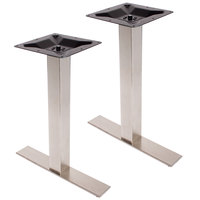 BFM Seating PHTB0024SS Elite Stainless Steel Outdoor / Indoor Standard Height End Table Base Set