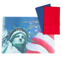 Hoffmaster 856778 10 inch x 14 inch Land of the Free Placemat Combo Pack - 250/Case