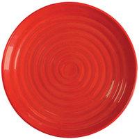 GET ML-83-RSP Milano 12 1/2 inch Red Sensation Melamine Round Plate - 12/Pack