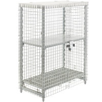 Cambro Camshelving CPFWSC244860000 Stainless Steel Security Cage - 26 3/4 inch x 50 1/4 inch x 61 1/2 inch