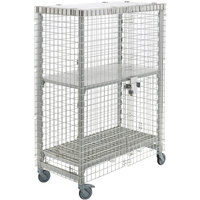 Cambro Camshelving CPMU244867SUPKG480 Mobile Security Cage Kit - 26 3/4 inch x 50 1/4 inch x 67 3/4 inch