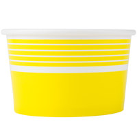 Choice 8 oz. Yellow Paper Frozen Yogurt Cup - 1000 / Case