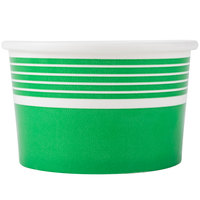 Choice 8 oz. Green Paper Frozen Yogurt Cup - 50 / Pack