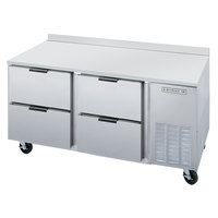 Beverage Air WTRD67A-4 67 inch Compact Worktop Refrigerator - 4 Drawers