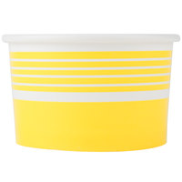 Choice 6 oz. Yellow Paper Frozen Yogurt Cup - 50/Pack