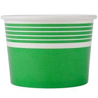 Choice 12 oz. Green Paper Frozen Yogurt Cup - 50/Pack