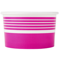 Choice 6 oz. Pink Paper Frozen Yogurt Cup - 50/Pack
