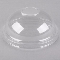 Choice 8 / 12 oz. Clear Round Dome Frozen Yogurt Lid with No Hole - 50/Pack