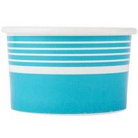 Choice 6 oz. Blue Paper Frozen Yogurt Cup   - 50/Pack