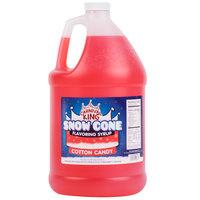 Carnival King 1 Gallon Cotton Candy Snow Cone Syrup   - 4/Case