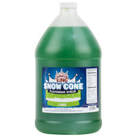 Carnival King 1 Gallon Lime Snow Cone Syrup - 4 / Case