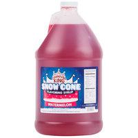 Carnival King 1 Gallon Watermelon Snow Cone Syrup   - 4/Case