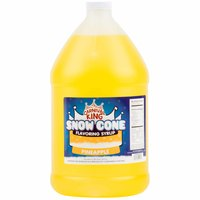 Carnival King 1 Gallon Pineapple Snow Cone Syrup - 4 / Case