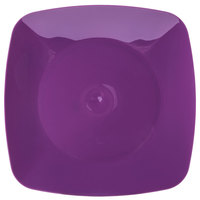 Fineline 1508-PRP Renaissance 7 1/2 inch Purple Square Salad Plate - 120 / Case