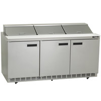 Delfield 4472N-18 72 inch Sandwich / Salad Prep Refrigerator - 115V