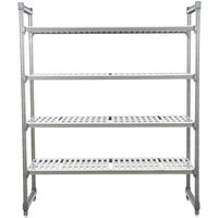 Cambro Camshelving Elements ESU247272V4580 Vented 4-Shelf Stationary Starter Unit - 24 inch x 72 inch x 72 inch
