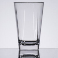 GET SW-1471-CL Cubed 12 oz. Clear Plastic Beverage Glass - 24/Case