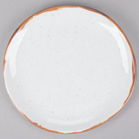 GET CS-7-RM Rustic Mill 7 inch Irregular Round Coupe Plate - 12/Case