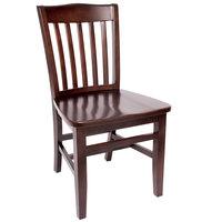 BFM Seating SWC303CW-CW Columbia Classic Walnut Colored Beechwood Side Chair