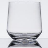 GET SW-1468-CL Via 10 oz. Clear Plastic Rocks Glass - 24 / Case