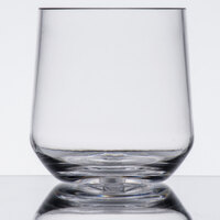 GET SW-1468-CL Via 10 oz. Clear Plastic Rocks Glass - 24/Case
