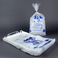 10 lb. Ice Bag - Wicketed with Handle 1000/Case