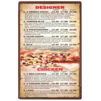 Menu Solutions H500A CHOC Hamilton 5 1/2 inch x 8 1/2 inch Single Panel Two View Chocolate Menu Board