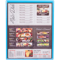 Menu Solutions H500E SKY Hamilton 10 inch x 12 1/2 inch Single Panel Two View Sky Blue Menu Board