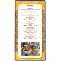 Menu Solutions H500B ROY BL Hamilton 5 1/2 inch x 11 inch Single Panel Two View Royal Blue Menu Board
