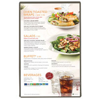 Menu Solutions H500A SILVR Hamilton 5 1/2 inch x 8 1/2 inch Single Panel Two View Silver Menu Board