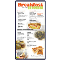 Menu Solutions H500B DARK BL Hamilton 5 1/2 inch x 11 inch Single Panel Two View Blue Menu Board