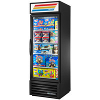 True GDM-23F-HC~TSL01 27 inch Black One Section Glass Door Merchandiser Freezer with LED Lighting
