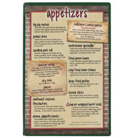 Menu Solutions H500A GREEN Hamilton 5 1/2 inch x 8 1/2 inch Single Panel Two View Green Menu Board