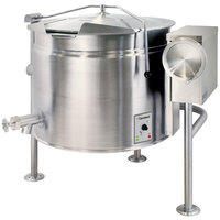 Cleveland KEL-40-TSH Short Series 40 Gallon Tilting Full Steam Jacketed Electric Kettle - 208/240V