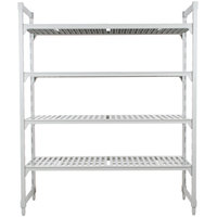 Cambro Camshelving Premium CPU184284V4PKG480 Shelving Unit with 4 Vented Shelves - 18 inch x 42 inch x 84 inch
