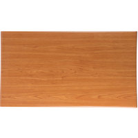 BFM Seating TTRS3072CH Resin 30 inch x 72 inch Rectangular Indoor Tabletop - Cherry
