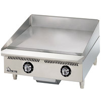 Star 824TCHSA Ultra-Max 24 inch Countertop Gas Griddle with Snap-Action Thermostatic Controls and Chrome Plate - 60,000 BTU