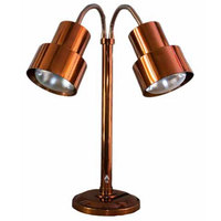 Hanson Brass DLM/200/ST/SC Smoked Copper Flexible Dual Bulb Freestanding Heat Lamp